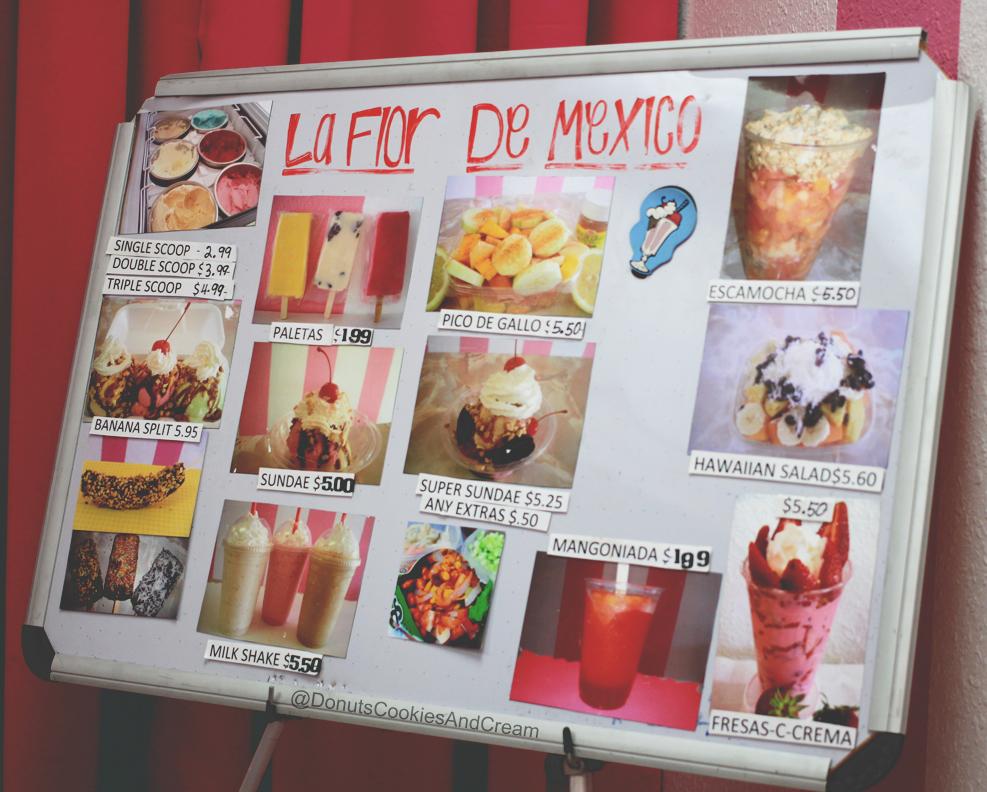 Neveria LaFlorMenu Neveria La Flor de Mexico   Sweetest Ice Cream Shop in Stanton