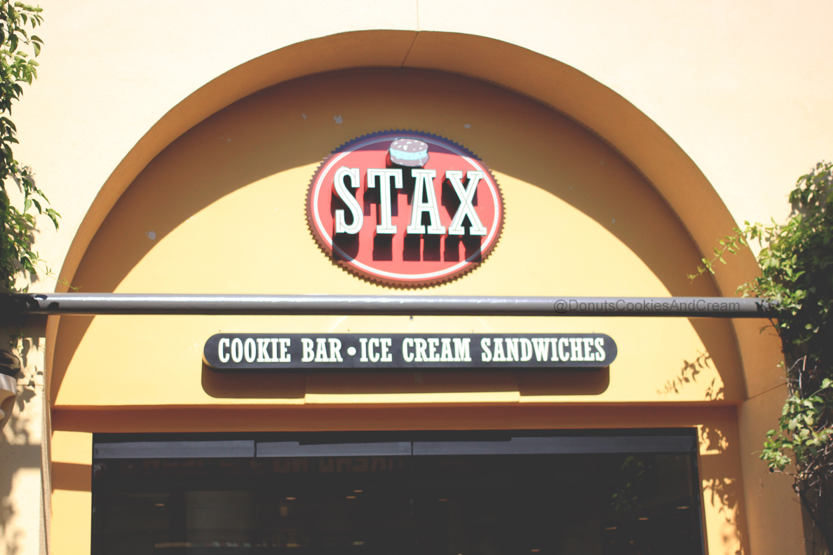 Stax Front Stacking Cookies and Ice Cream at Stax Cookie Bar