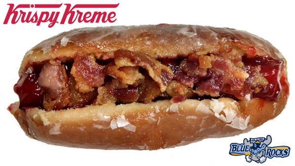Krispy Kreme Donut Dog Minor League hot dogs, Major League Krispy Kreme Doughnut Bun.