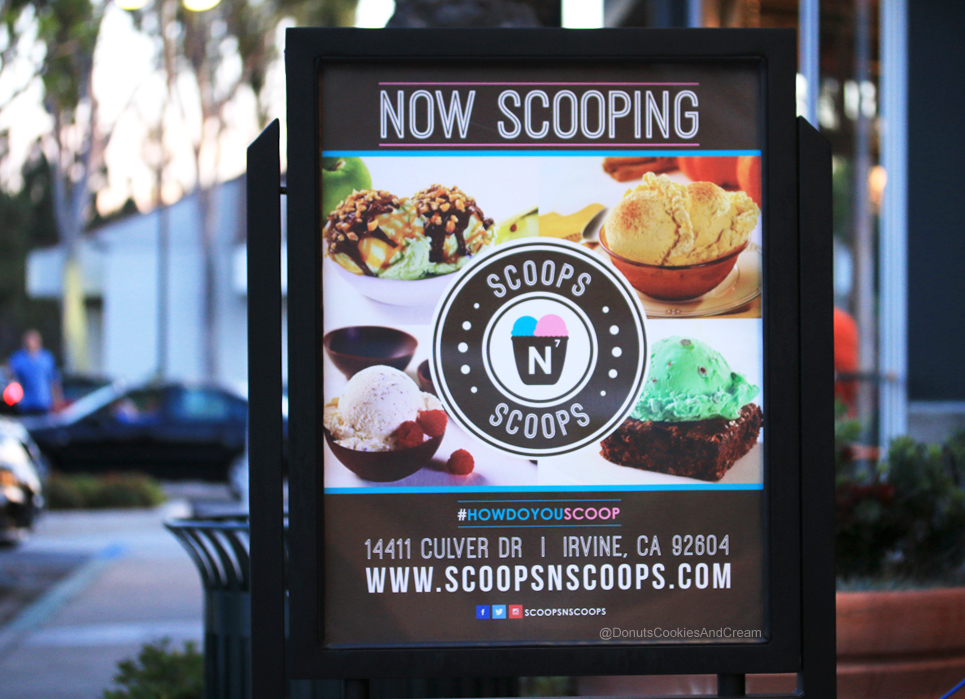 ScoopsNScoops 2 Scoops N Scoops Celebrates Grand Opening in Irvine, CA | Donuts, Cookies, And Cream
