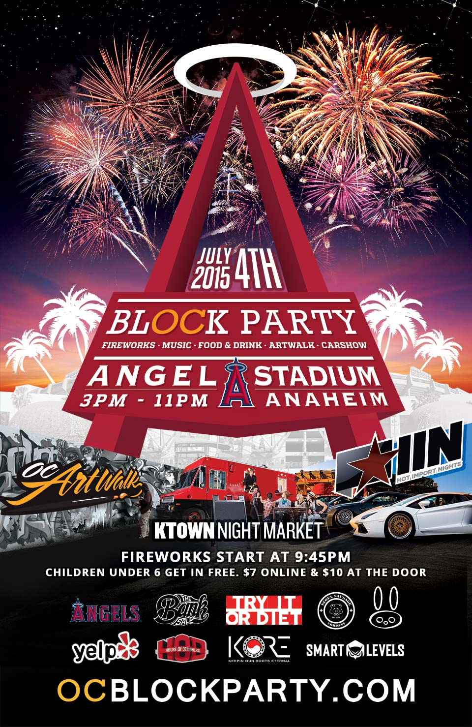 OCBLOCKPARTY is coming on July 4th, 2015 at the Angel Stadium