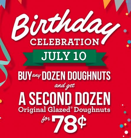 krispy kreme Krispy Kreme 78th Birthday Celebration!!!